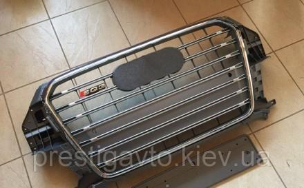 Решетка радиатора тюнинговая на Audi Q3 (2011-...) года выпуска. Решетка Audi Q3. Киев, Киевская область. фото 3