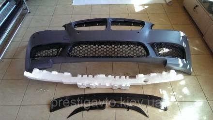Бампер передний на BMW F10 стиль M5 (2011-2014)  Комплект переднего бампера: пе. Киев, Киевская область. фото 2