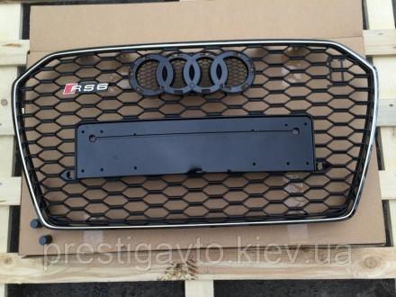 Решетка радиатора на Audi A6 с 2014 годов выпуска в стиле Audi RS6 Решетка радиа. Киев, Киевская область. фото 2