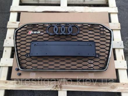 Решетка радиатора на Audi A6 с 2014 годов выпуска в стиле Audi RS6 Решетка радиа. Киев, Киевская область. фото 5