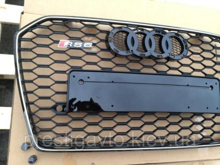 Решетка радиатора на Audi A6 с 2014 годов выпуска в стиле Audi RS6 Решетка радиа. Киев, Киевская область. фото 3