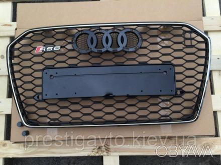 Решетка радиатора на Audi A6 с 2014 годов выпуска в стиле Audi RS6 Решетка радиа. Киев, Киевская область. фото 1