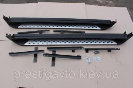 Пороги боковые на Nissan X-Trail T32 (2014-...) Комплект: 2 шт. (цена указана за. Киев, Киевская область. фото 2