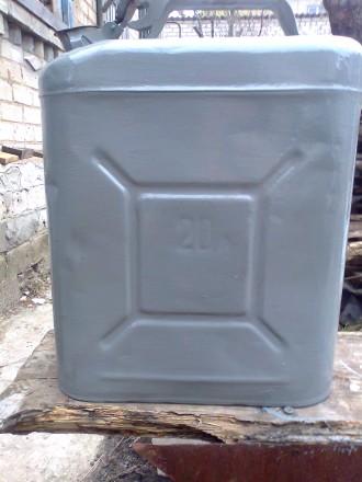 продам б/у металлическую канистру емкостью на 20 литров.. Лисичанск. фото 1