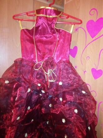 шикарное пышное платье, одето один раз на утренник,отличное состояние,открытая с. Одесса, Одесская область. фото 3
