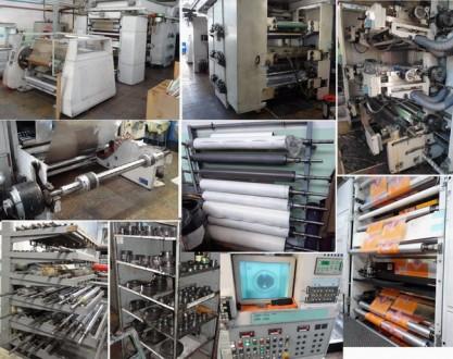 Шестицветная печатная флексомашина и монтажный стол клише. Черкассы. фото 1