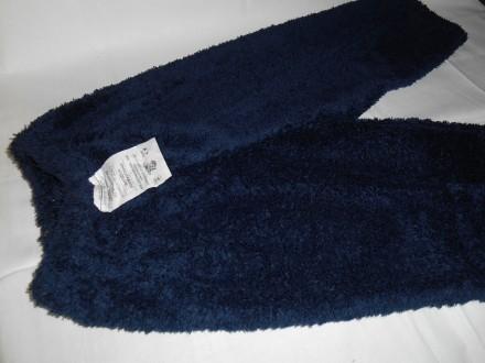 Штаны для малышей. Рваная махра. Цвет синий. Александрия. фото 1