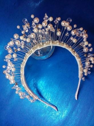 Диадема ручной работы,корона на ободке,в наличии и под заказ. Днепр. фото 1