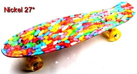Скейт Пенни Борд Print, Penny Board Nickel 27 С рисунком Caramel Style. Киев. фото 1