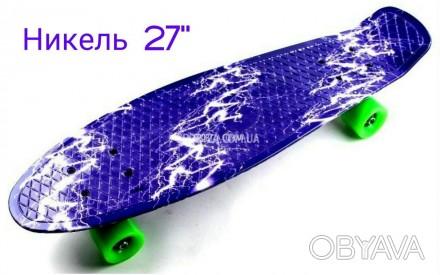 8e5a8a66d8af Скейт Пенни Борд Print, Penny Board Nickel 27 С рисунком Синяя Молния