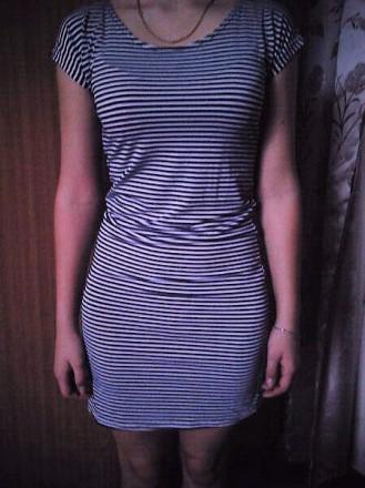 летнее полосатое платье. Долинская. фото 1