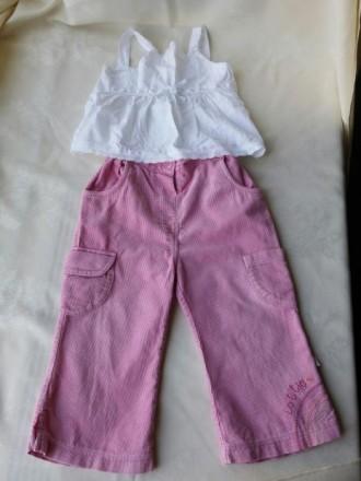 Розовые вельветовые штаны /брюки для девочки. Житомир. фото 1