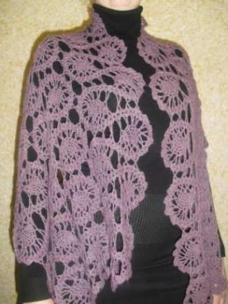 Шаль - палантин, шарф ажурный ручной работы. Днепр. фото 1