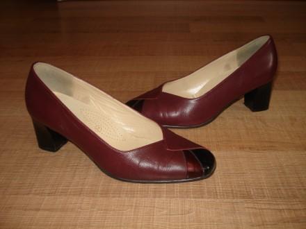 Кожаные туфли, 25,5 см.. Херсон. фото 1