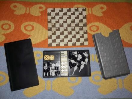 Игровой набор советский шахматы, шашки, шарды. Чернигов. фото 1