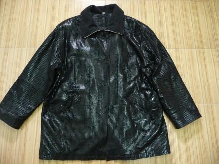 Шикарная кожаная куртка большого размера.. Киев. фото 1
