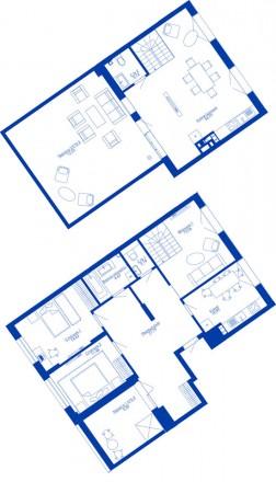 Продаю чудову 4к двохрівневу квартиру з терасою в завершеному домі ЖК Rybalsky б. Подол, Киев, Киевская область. фото 2