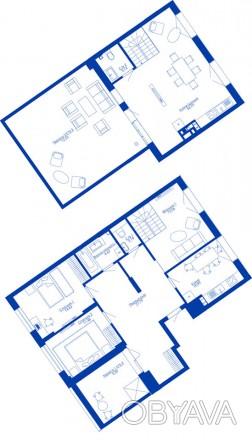 Продаю чудову 4к двохрівневу квартиру з терасою в завершеному домі ЖК Rybalsky б. Подол, Киев, Киевская область. фото 1