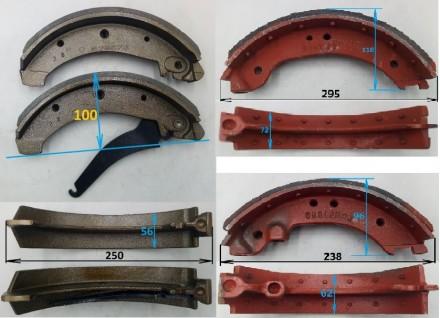 Колодки тормозные для вилочных погрузчиков TOYOTA, MITSUBISHI, TCM, NISSAN, KOMA. Днепр, Днепропетровская область. фото 2