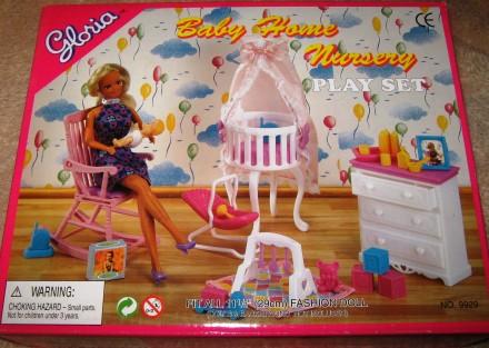 Кукольная мебель Глория Gloria 9929 красивейшая детская комната. Харьков. фото 1