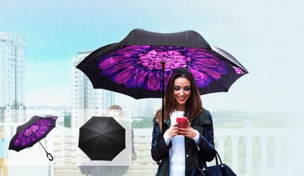 Обратный зонт KAZbrella! Хит-продаж!. Киев. фото 1