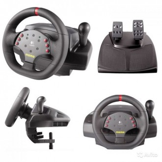Игровой руль на PC Logitech MOMO RACING forсe feedback wheel. Киев. фото 1