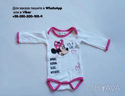 Бодик disney с мини маус для малыша для девочки дисней розовый