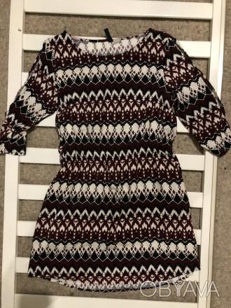 Платье из вискозной легкой ткани.Модель простая,но оригинально смотрятся рукавчи. Кривой Рог, Днепропетровская область. фото 1