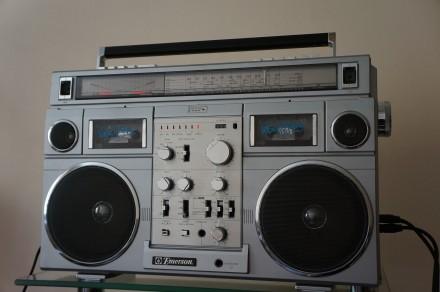 Emerson CTR-966 Deluxe Portable type AM/SW1/SW2/FM MPX Stereo Dual Cassette Rec. Черновцы, Черновицкая область. фото 3