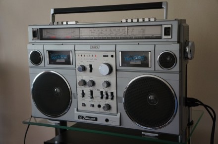 Emerson CTR-966 Deluxe Portable type AM/SW1/SW2/FM MPX Stereo Dual Cassette Rec. Черновцы, Черновицкая область. фото 7