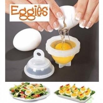 C набором для варки яиц без скорлупы Eggies:  1. Нет необходимости очищать яйцо. Киев, Киевская область. фото 8