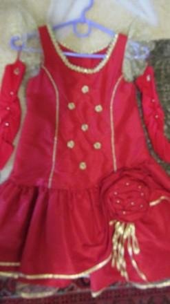 Платье праздничное для девочки, Р 128. Сумы. фото 1