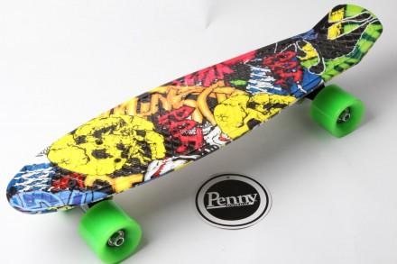 Скейт Пенни Борд Print, Penny Board Original Australia 22 c Рисунком Joker. Київ. фото 1