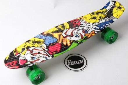 Скейт Пенни Борд Print, Penny Board Original Australia 22 c Рисунком Joker Светя. Київ. фото 1