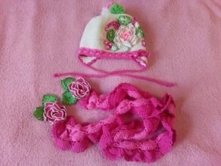 Шапка, шарф комплект. Нежин. фото 1