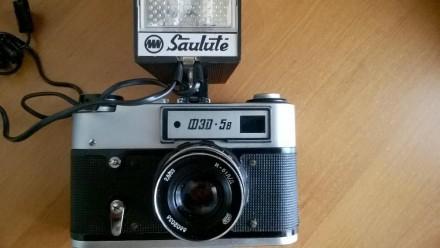 Фотоаппарат FED-5в (ФЕД-5в) со вспышкой Saulute. Цена договорная.. Киев. фото 1