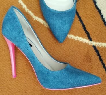 Джинсовые туфли Vices Очень красивые туфли на шпильке. Джинсовый верх красиво с. Каменец-Подольский, Хмельницкая область. фото 8