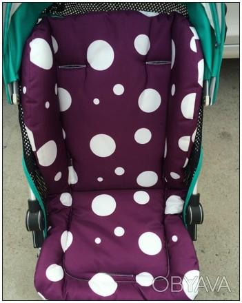 Матрасик-вкладыш в детскую коляску, автокресло, стульчик для кормления, санки, з. Киев, Киевская область. фото 1