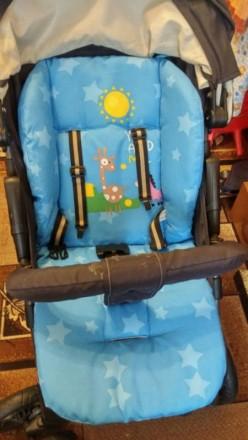 Вкладыш матрасик с прорезями под ремни безопасности в стульчик для кормления,кол. Киев, Киевская область. фото 4