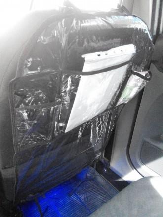 Защитный чехол-органайзер на спинку сидения автомобиля надолго сохранит обивку с. Киев, Киевская область. фото 5