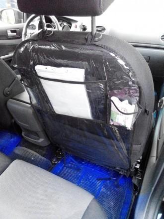 Защитный чехол-органайзер на спинку сидения автомобиля надолго сохранит обивку с. Киев, Киевская область. фото 2