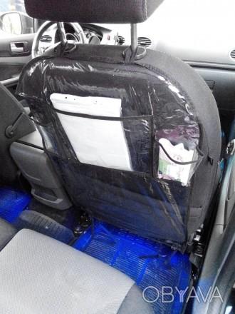 Защитный чехол-органайзер на спинку сидения автомобиля надолго сохранит обивку с. Киев, Киевская область. фото 1