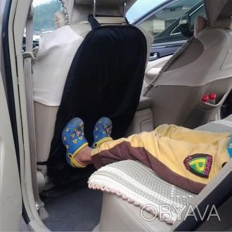 Защитный чехол на спинку переднего сидения надежно защитит оббивку салона от ног. Киев, Киевская область. фото 1