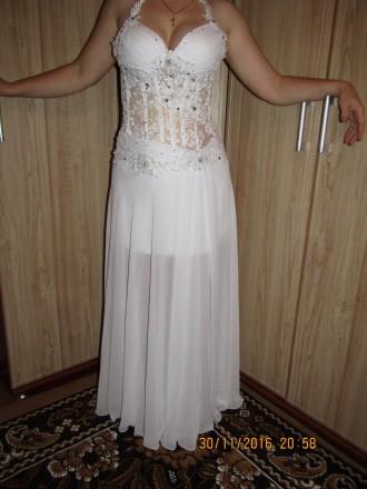 Новое платье, одевалось один раз на свадьбу. В отличном состоянии.. Винница, Винницкая область. фото 3