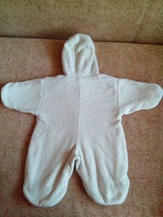 Продам теплый комбинезон-человечек на малыша от рождения. По бирке 62-68 см. Сос. Днепр, Днепропетровская область. фото 6