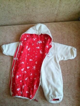Продам теплый комбинезон-человечек на малыша от рождения. По бирке 62-68 см. Сос. Днепр, Днепропетровская область. фото 3