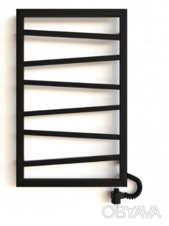 Дизайнерский полотенцесушитель, цвет черный (или любой на выбор), в наличии разм. Киев, Киевская область. фото 1