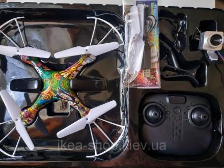Квадрокоптер CX 54 W (18) гироскоп с камерой   Квадрокоптер с камерой радиоуправ. Киев, Киевская область. фото 2