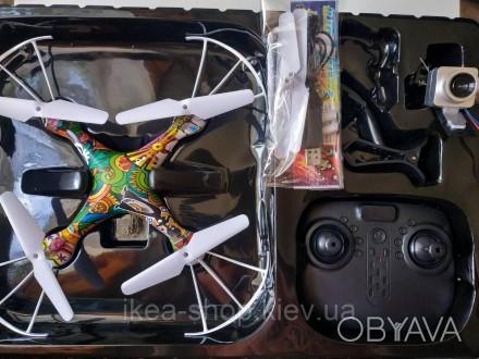Квадрокоптер CX 54 W (18) гироскоп с камерой   Квадрокоптер с камерой радиоуправ. Киев, Киевская область. фото 1