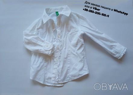Белая блузка блуза детская united colors of benetton белая рубашка біла блуза